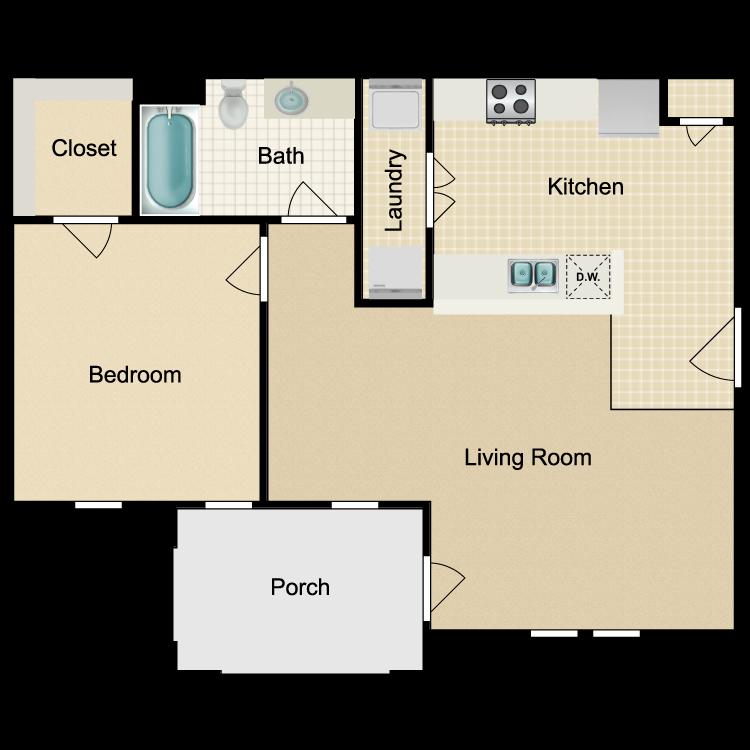Floor plan image of Unit 1