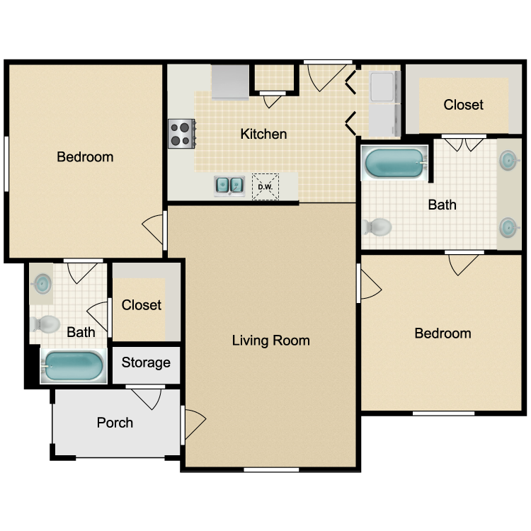 Floor plan image of Unit 2A