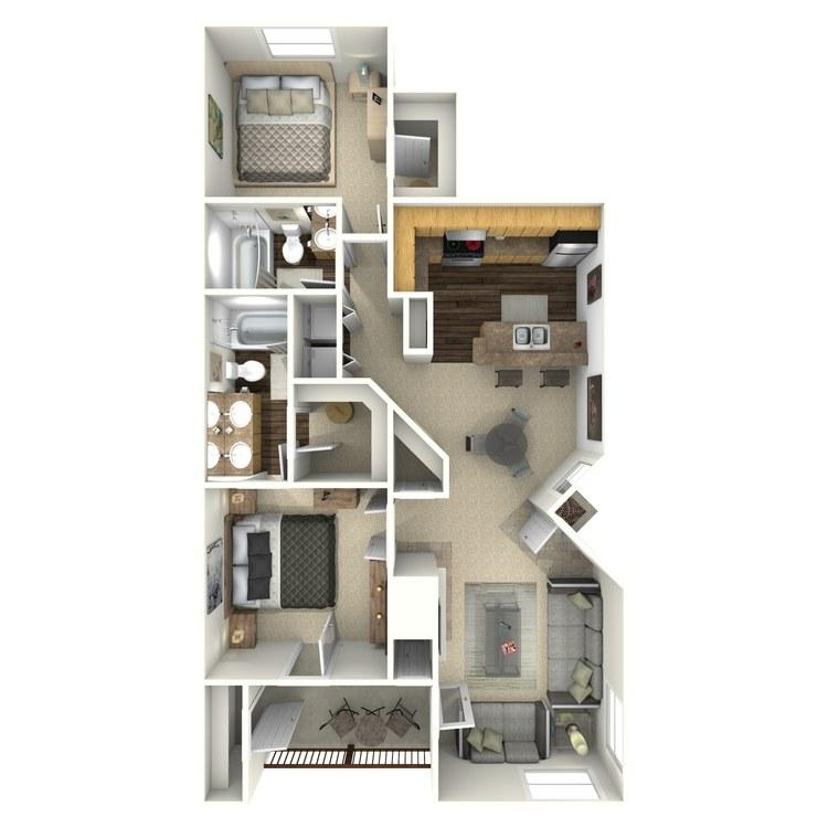 Floor plan image of Ponderosa
