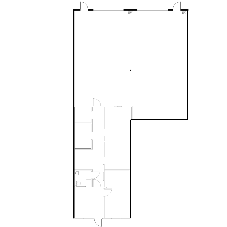 Floor plan image of 13781 Roswell Ave Suite E