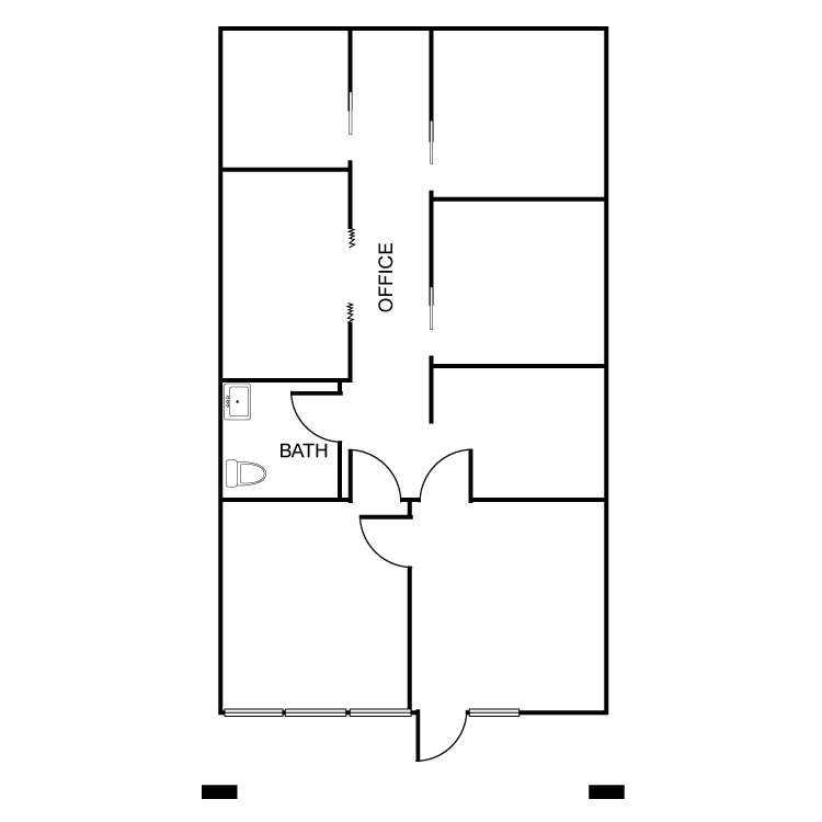 Floor plan image of 13781 Roswell Ave Suite D