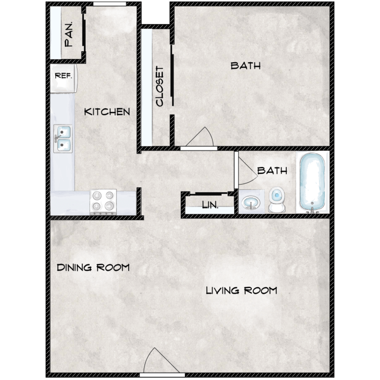Floor plan image of The Willow Oak