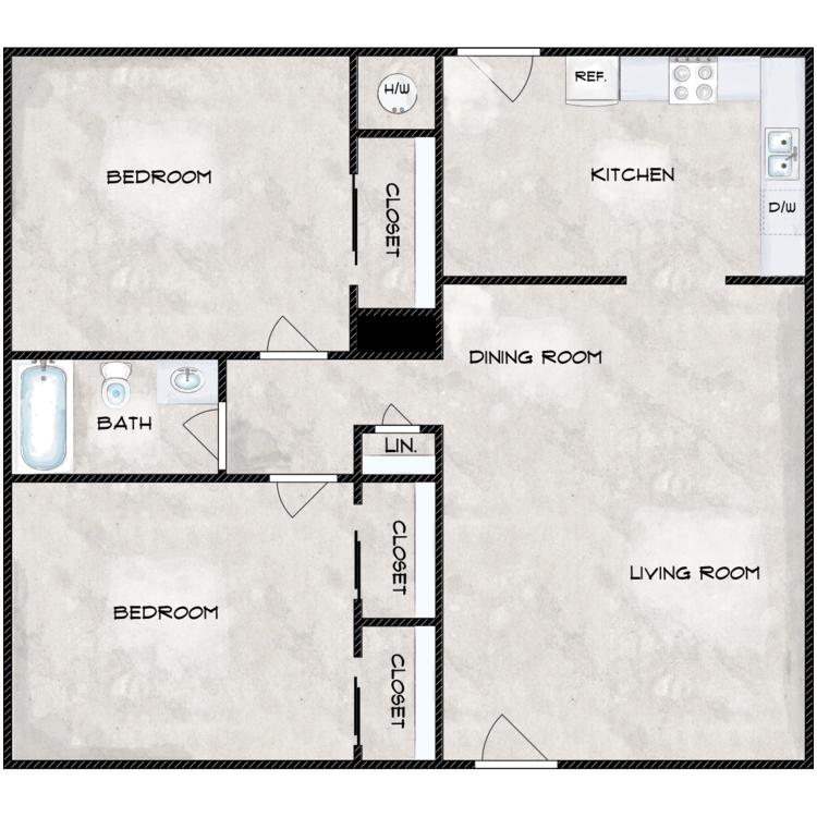 Floor plan image of The Bamboo