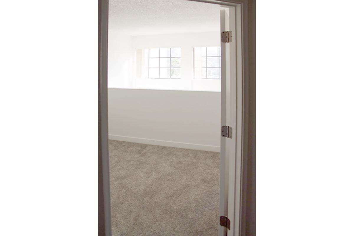a large white door