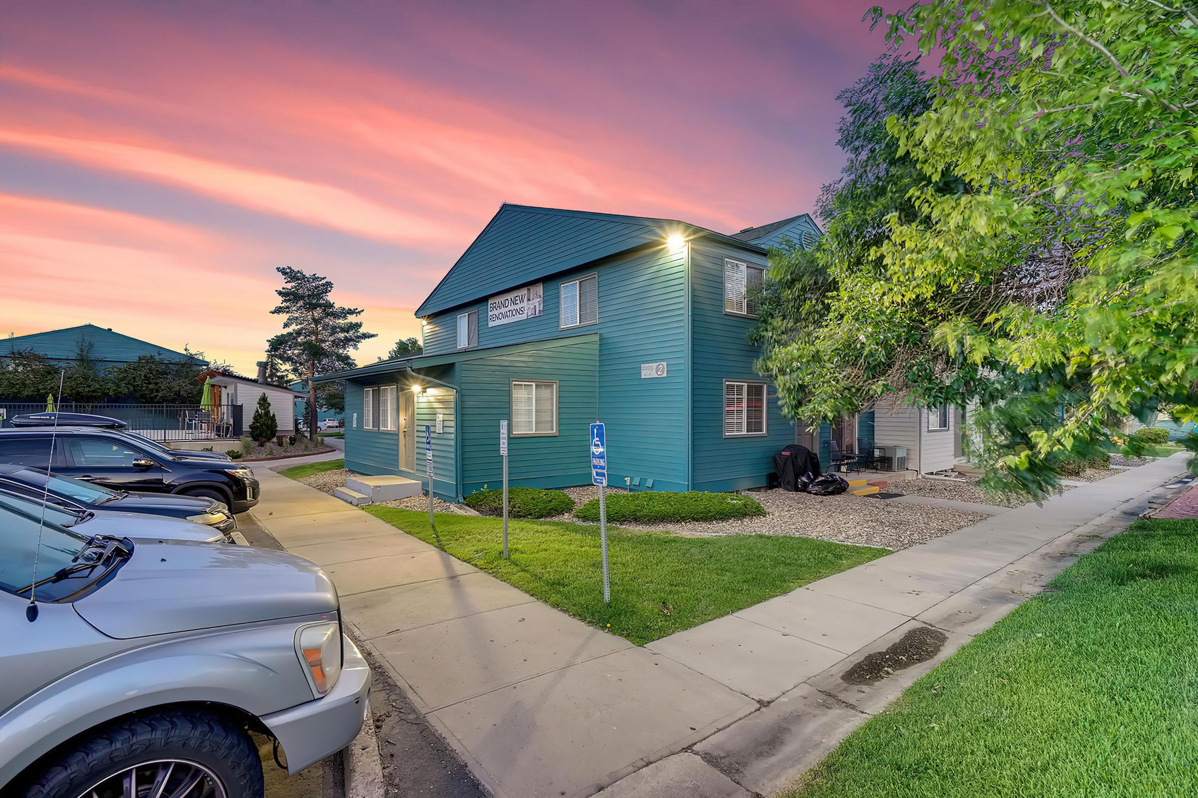 Parking Lot at Stratus Townhomes, Apartments in  Westminster, CO