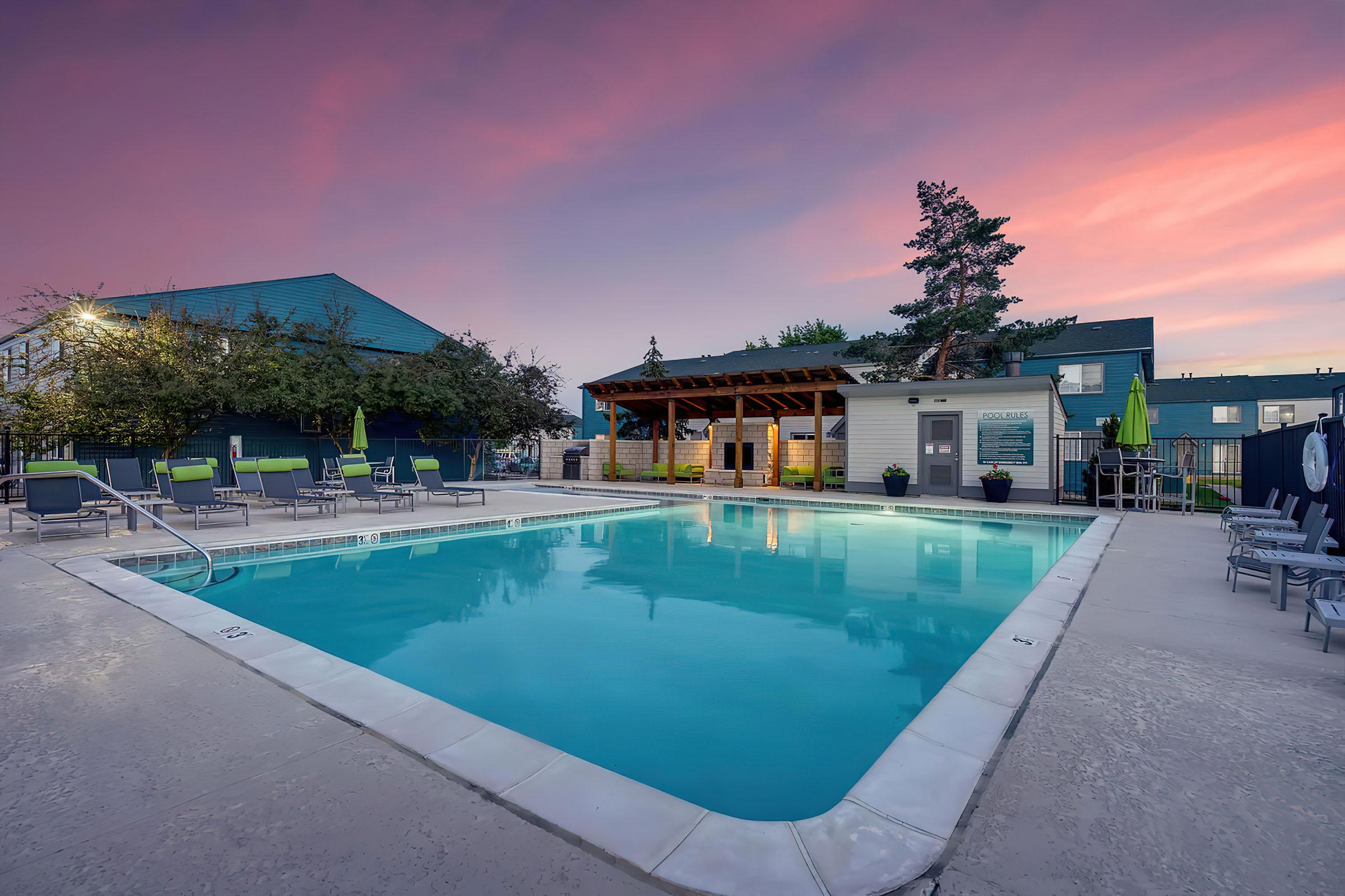 Pool at Stratus Townhomes, Apartments in  Westminster, CO