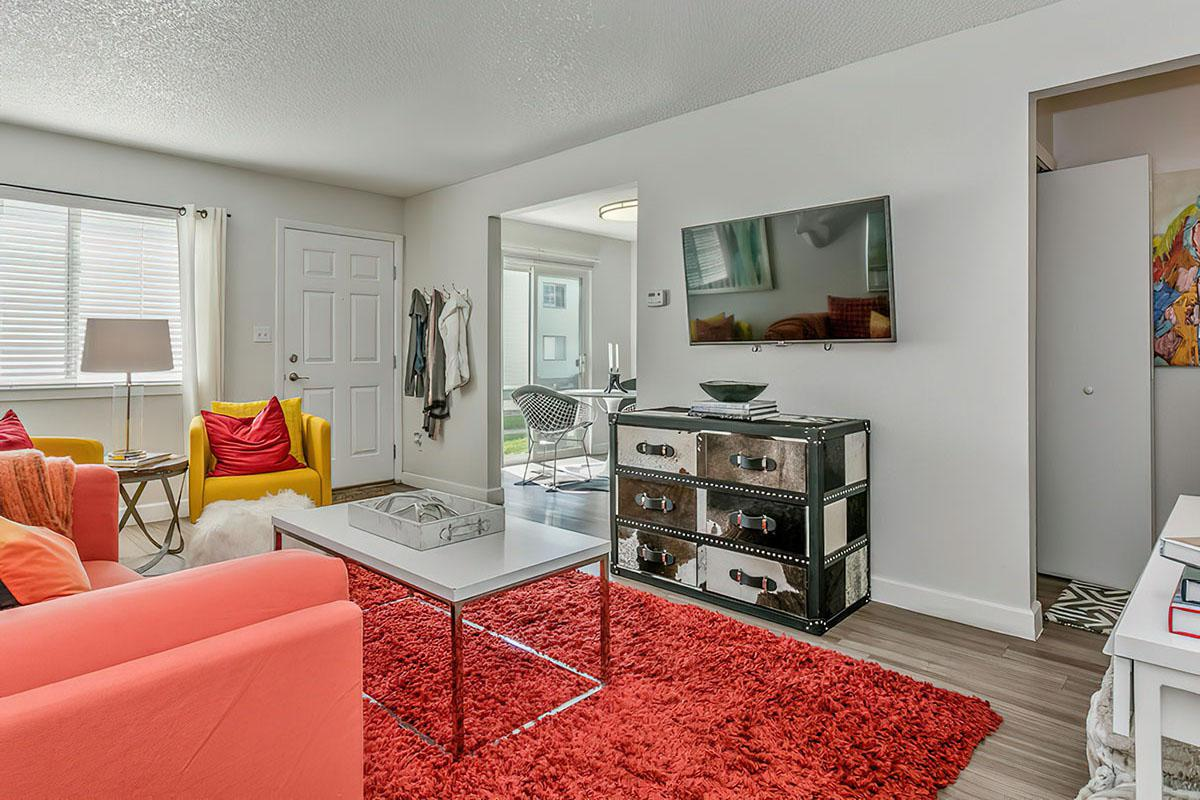 Living Room at Stratus Townhomes, Apartments in  Westminster, CO