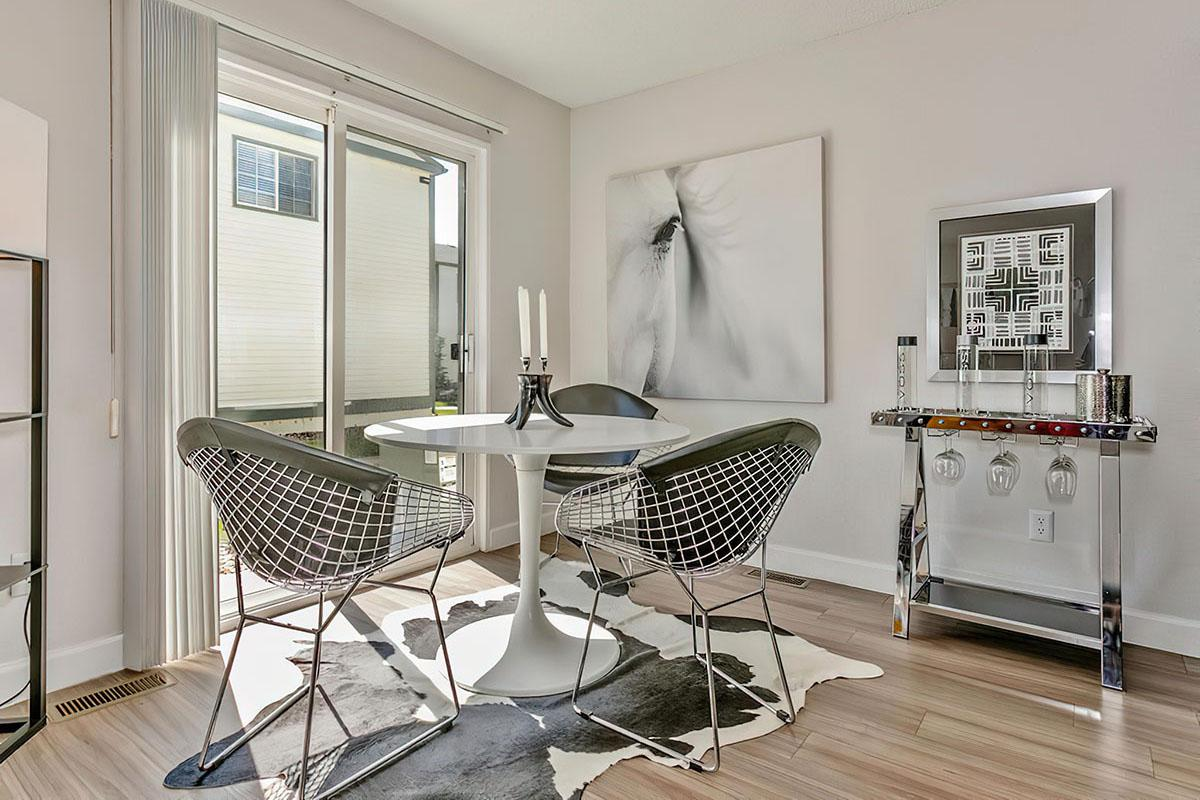Dinning Room at Stratus Townhomes, Apartments in  Westminster, CO