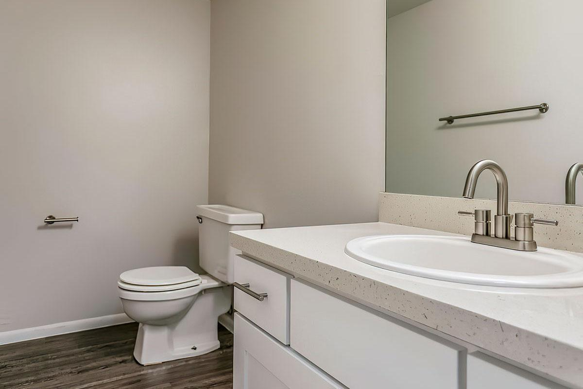Bathroom at Stratus Townhomes, Apartments in  Westminster, CO