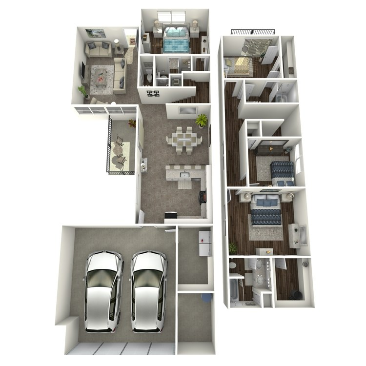 Floor plan image of 4 Bed 3 Bath - Renovated