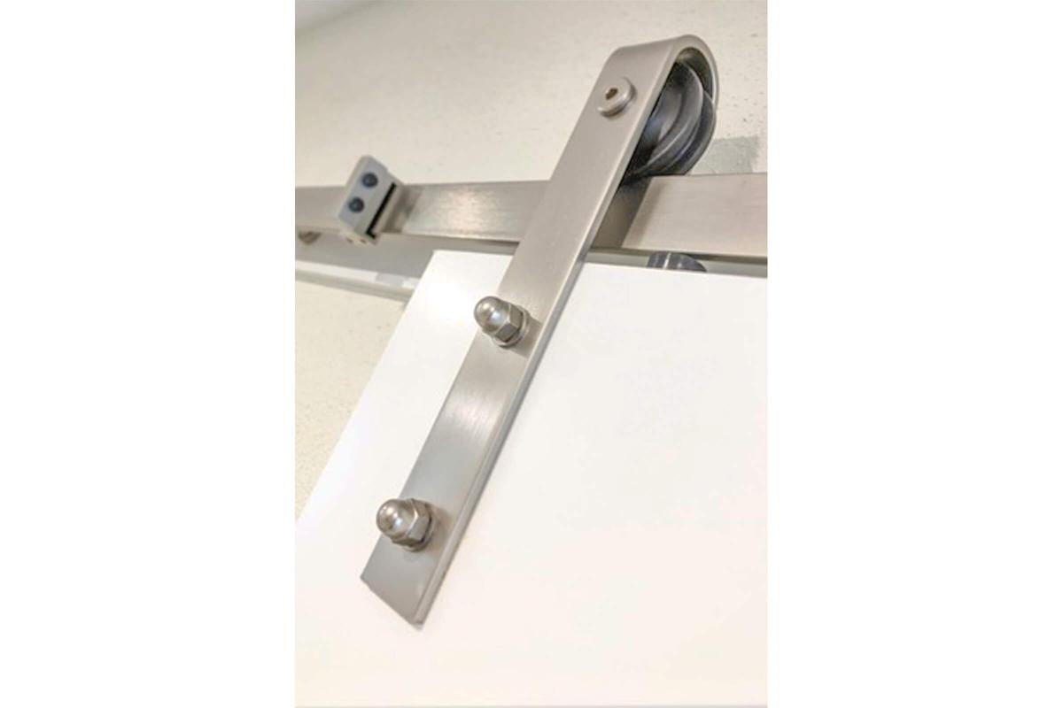a lock on a white surface