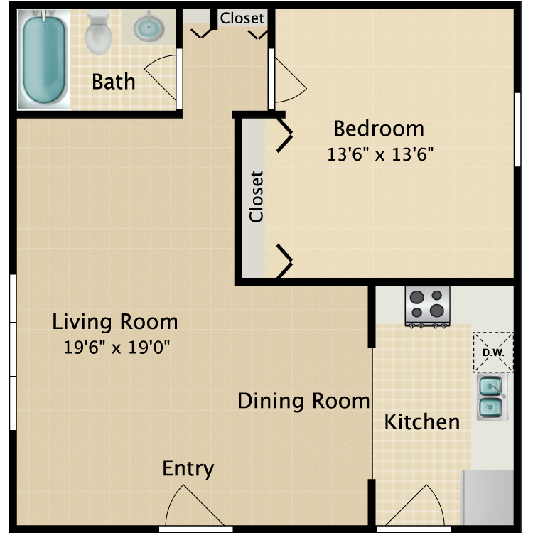 Floor plan image of Coral