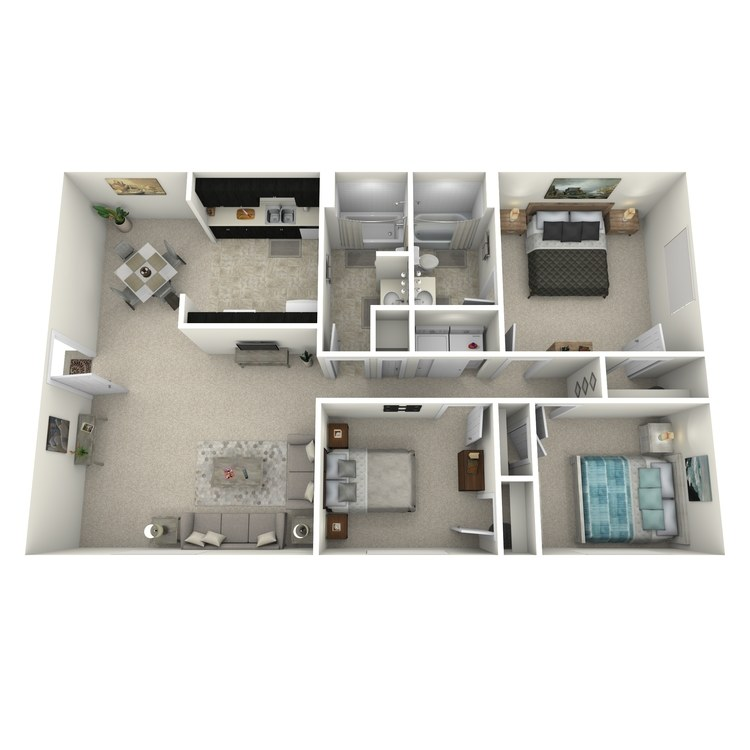 Floor plan image of 3WFPU