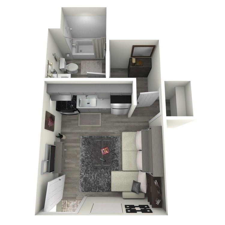 Floor plan image of Studio 1