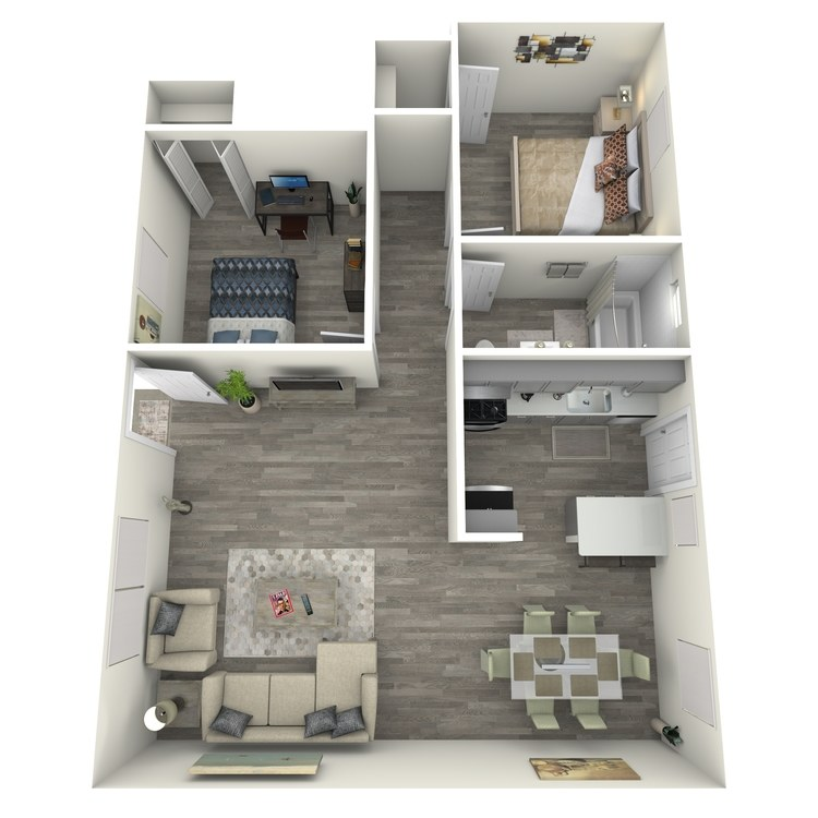 Floor plan image of Two Bed One Bath