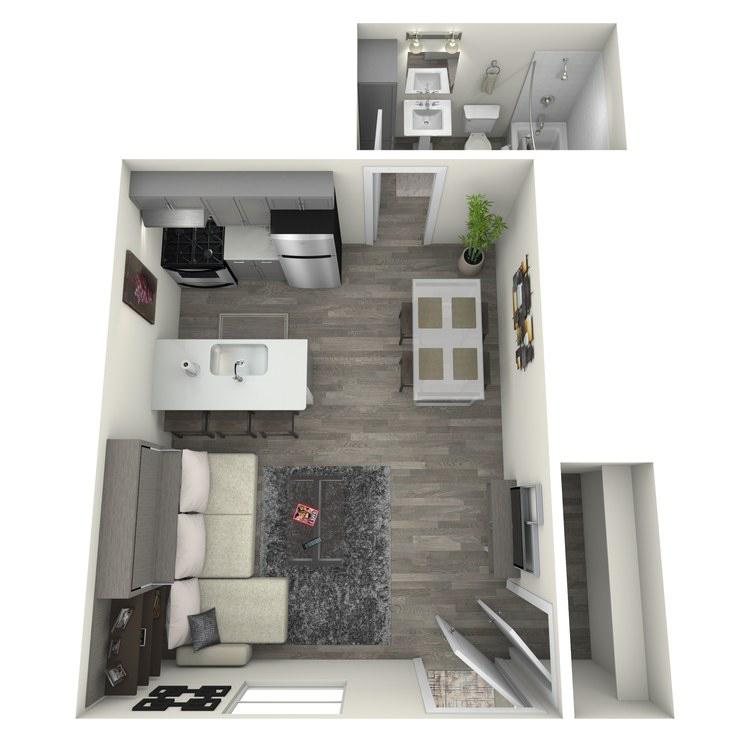Floor plan image of Studio 2