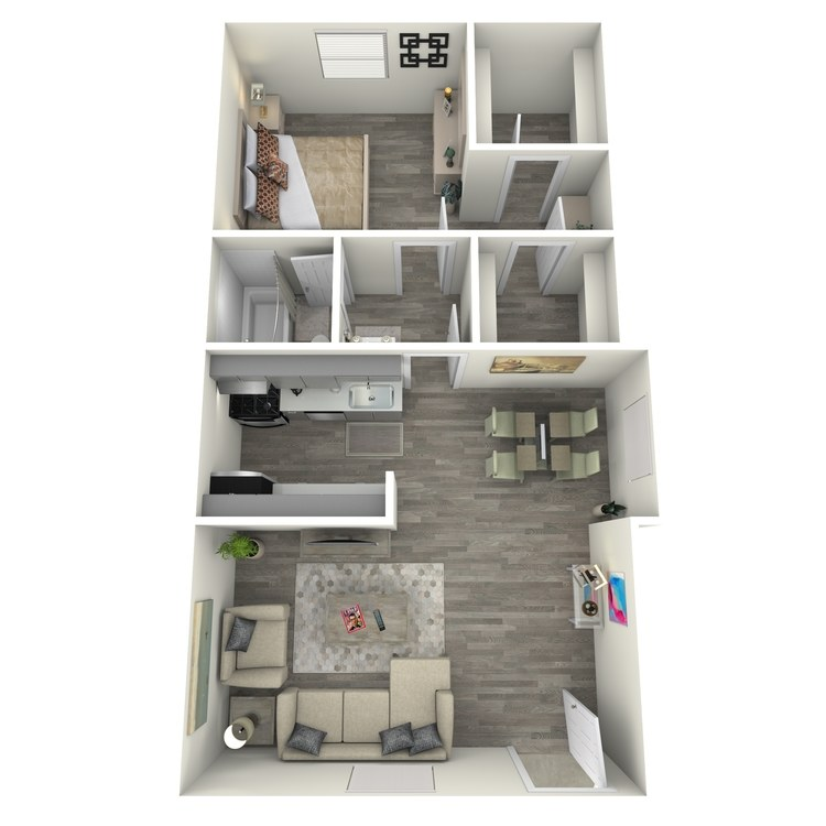 Floor plan image of One Bed One Bath B