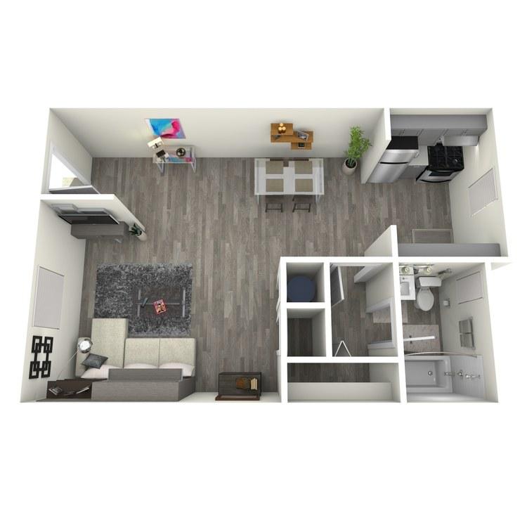 Floor plan image of Studio 3