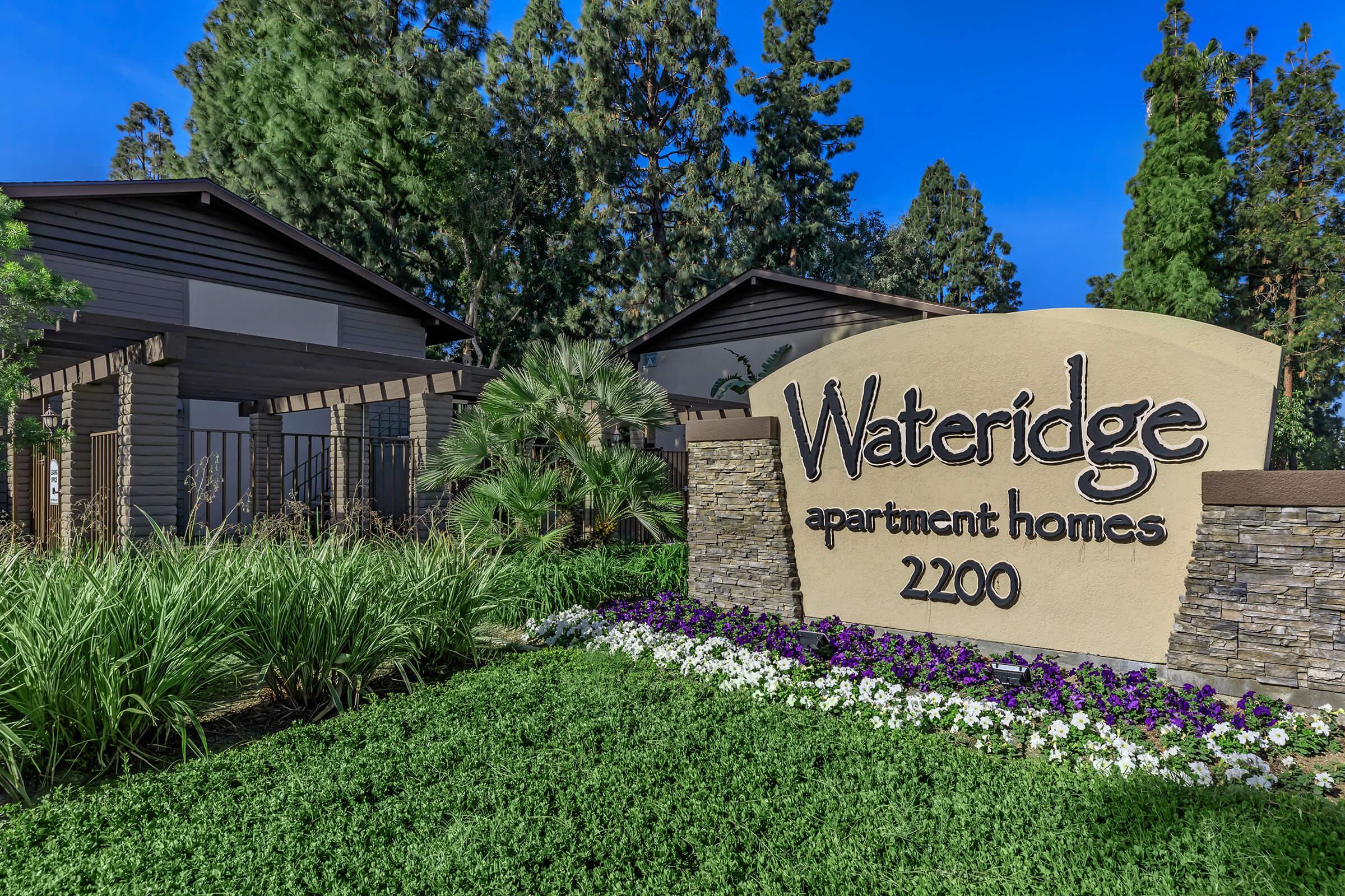 Wateridge Apartment Homes monument sign