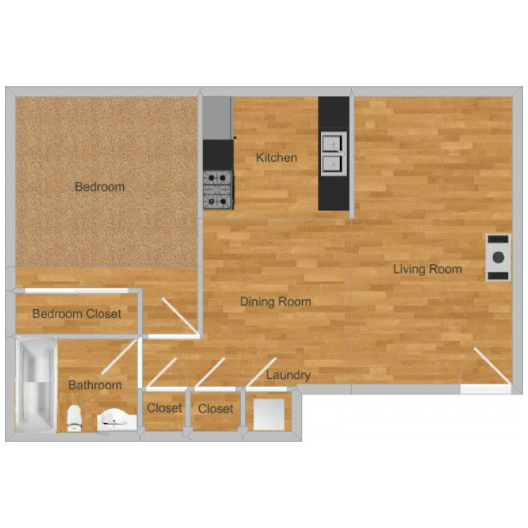 Floor plan image of Creekside- Cottonwood Upstairs