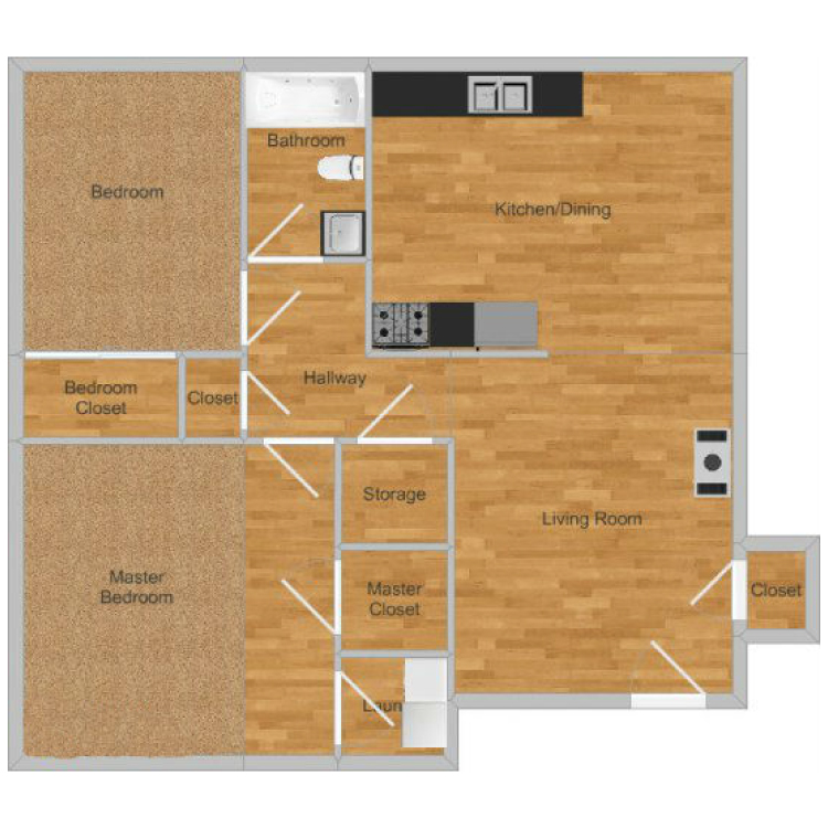 Floor plan image of Creekside- Cypress Downstairs