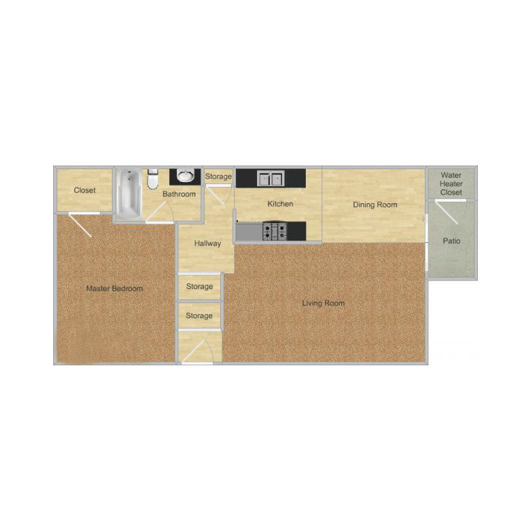 Floor plan image of Bear Creek Park- Sequoia