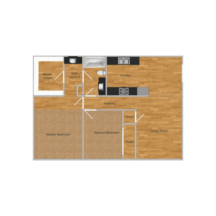 Floor plan image of Bear Creek Park- Yosemite