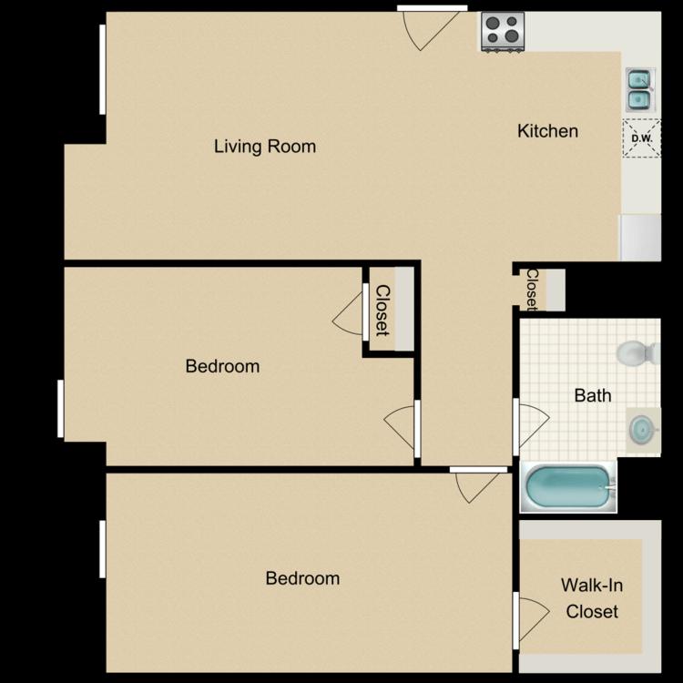 Floor plan image of 2 Bedroom B