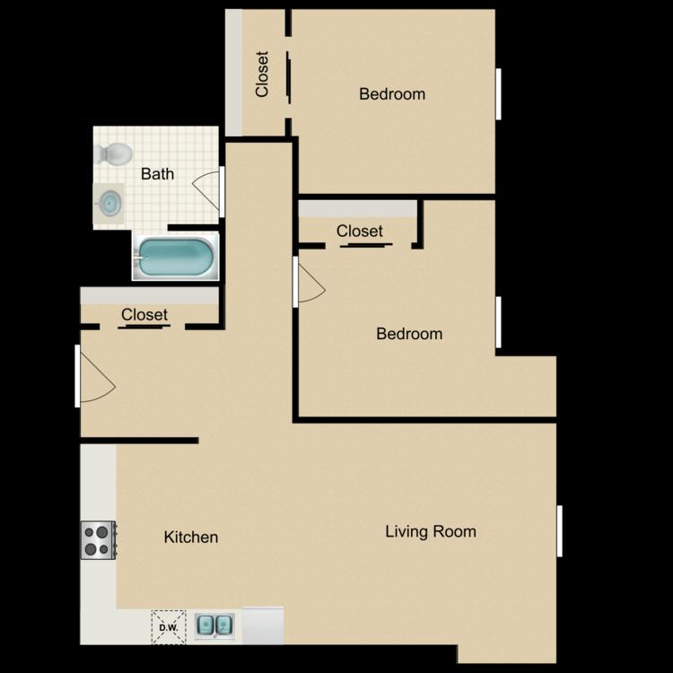 Floor plan image of 2 Bedroom C