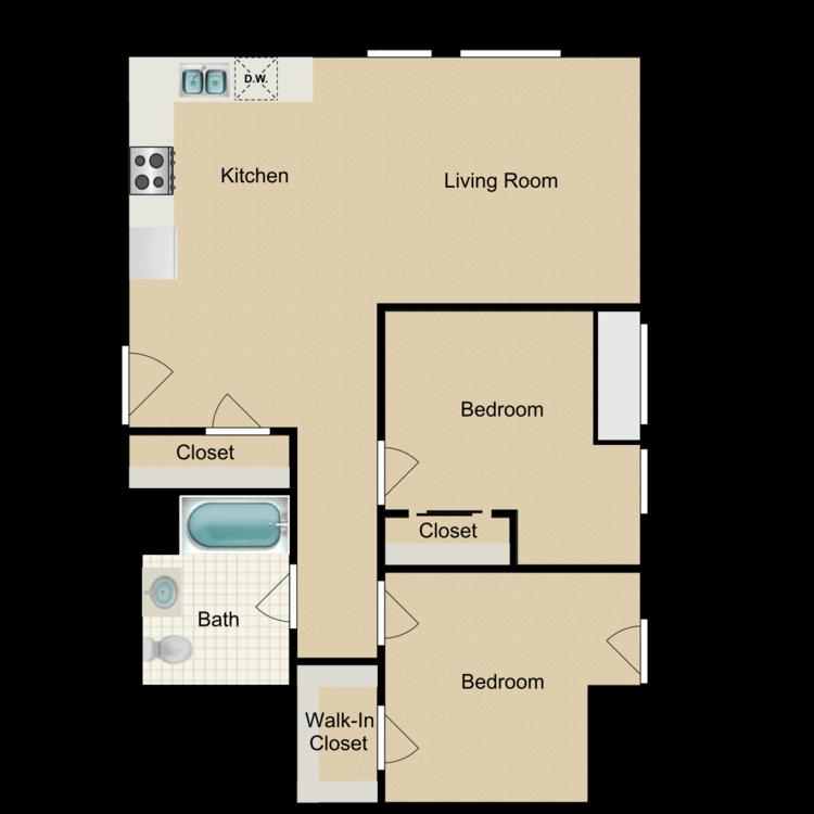 Floor plan image of 2 Bedroom D