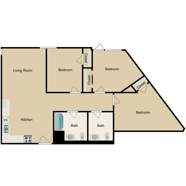 Floor plan image of 3 Bedroom A