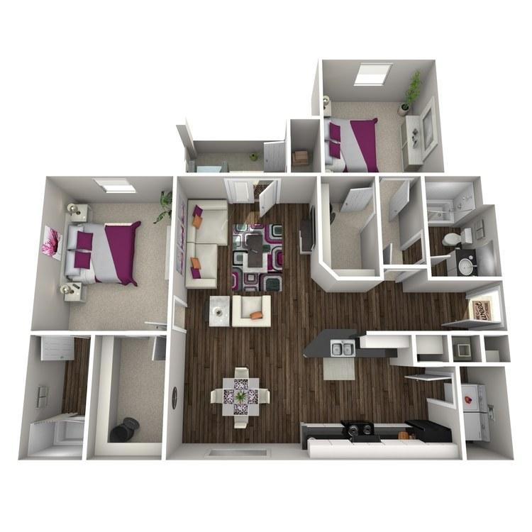 Floor plan image of Begonia
