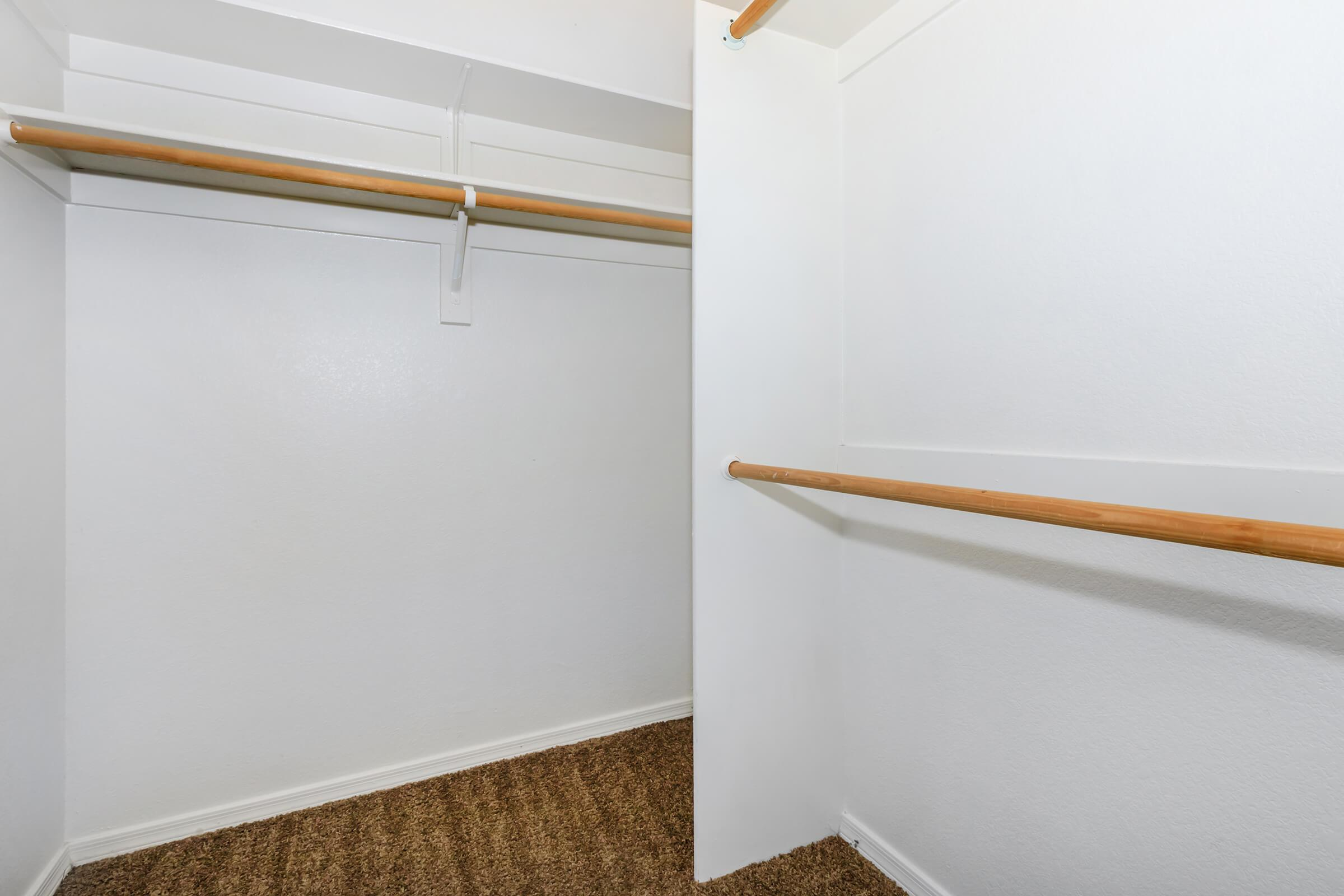 SPACIOUS CLOSETS IN TWO BEDROOM APARTMENT
