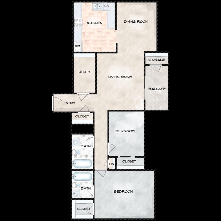 Floor plan image of Hermitage