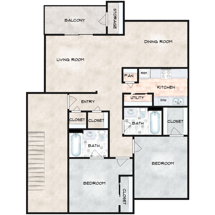 Floor plan image of Rachel
