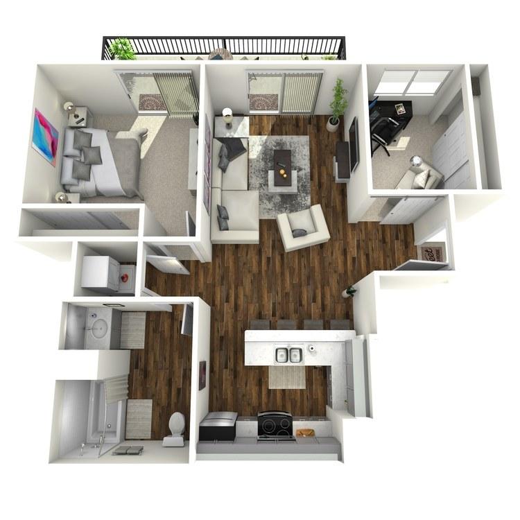 Floor plan image of The Tivoli w/Den