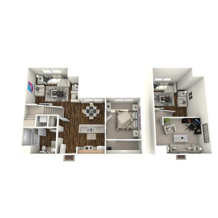 Floor plan image of The Villa w/Loft