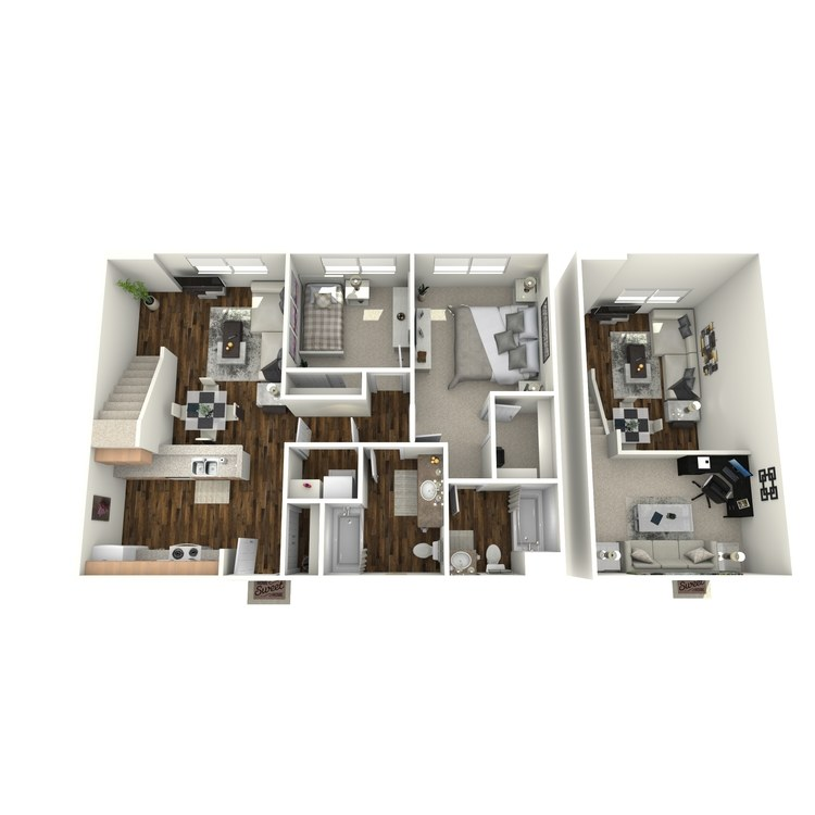 Floor plan image of The Manor w/Loft