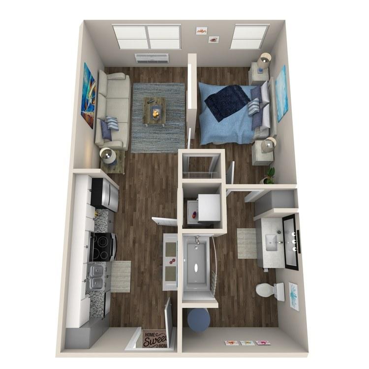 Floor plan image of Studio WC (Elevation II)