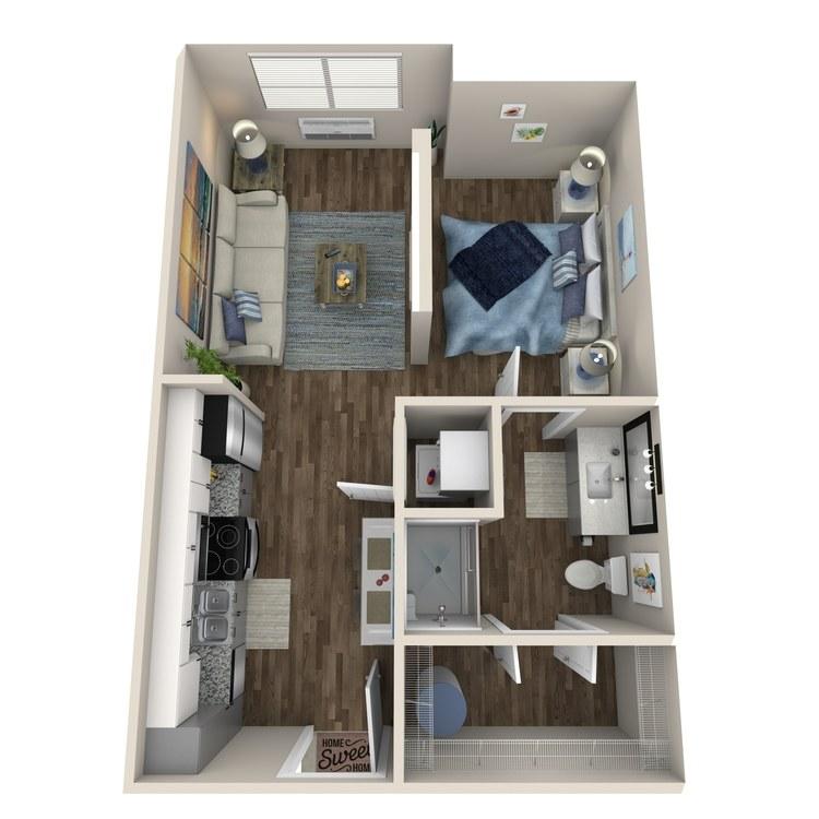 Floor plan image of Studio (Elevation II)