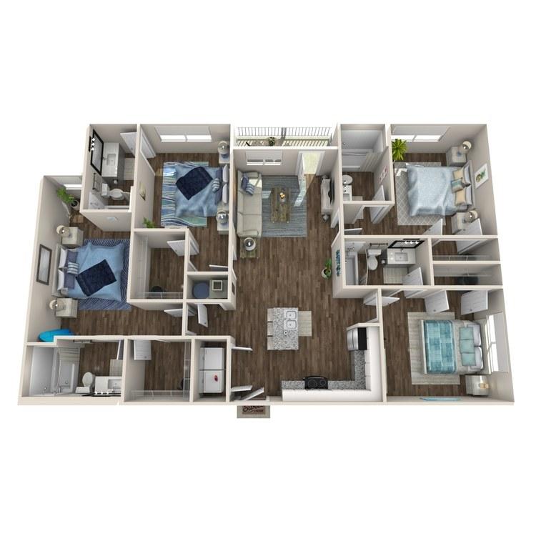 Floor plan image of Derby A (Elevation II)