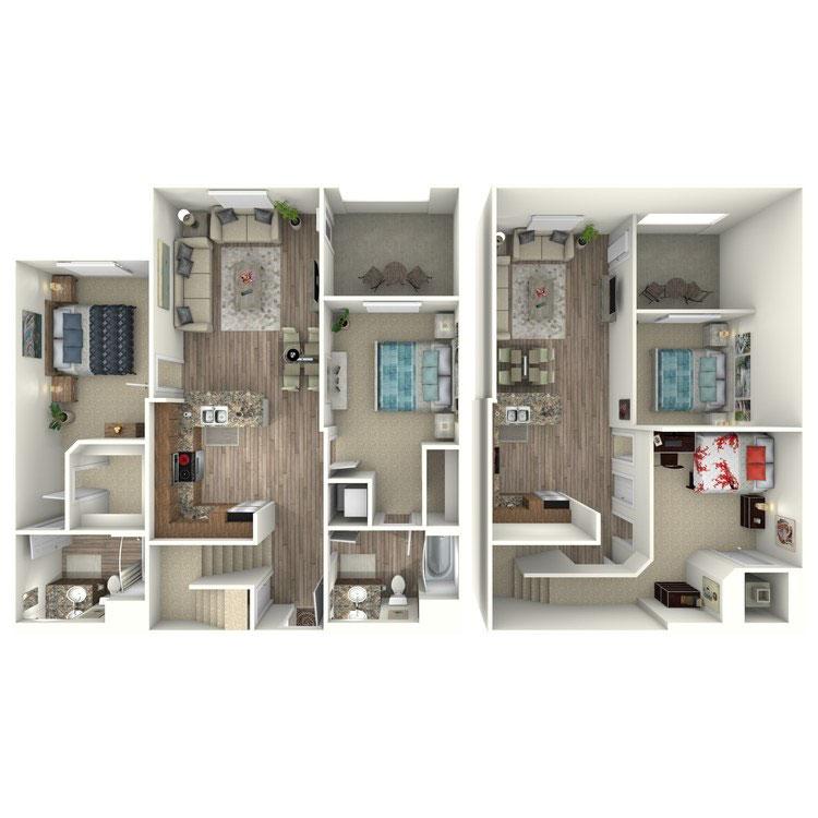 Floor plan image of B2-M