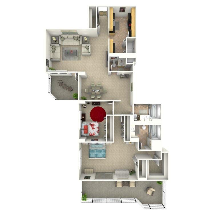 Floor plan image of Parker