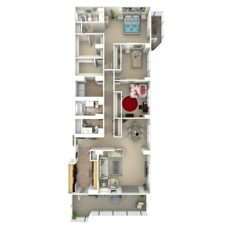 Floor plan image of Quinn