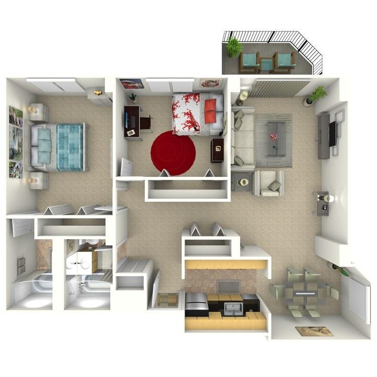 Floor plan image of Keller