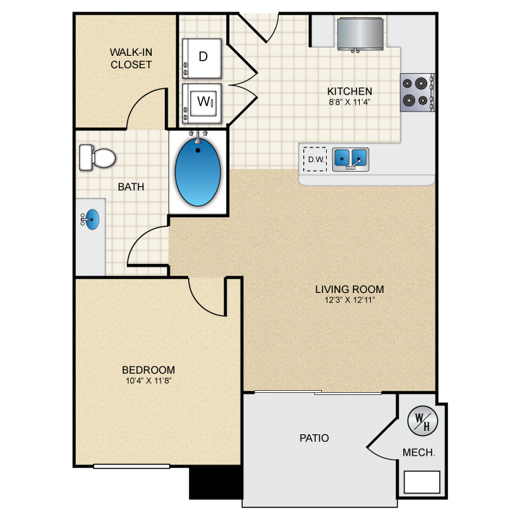 Floor plan image of Pinon