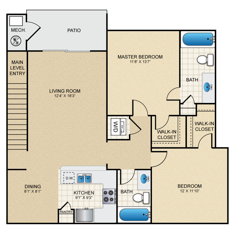 Floor plan image of Smokebrush