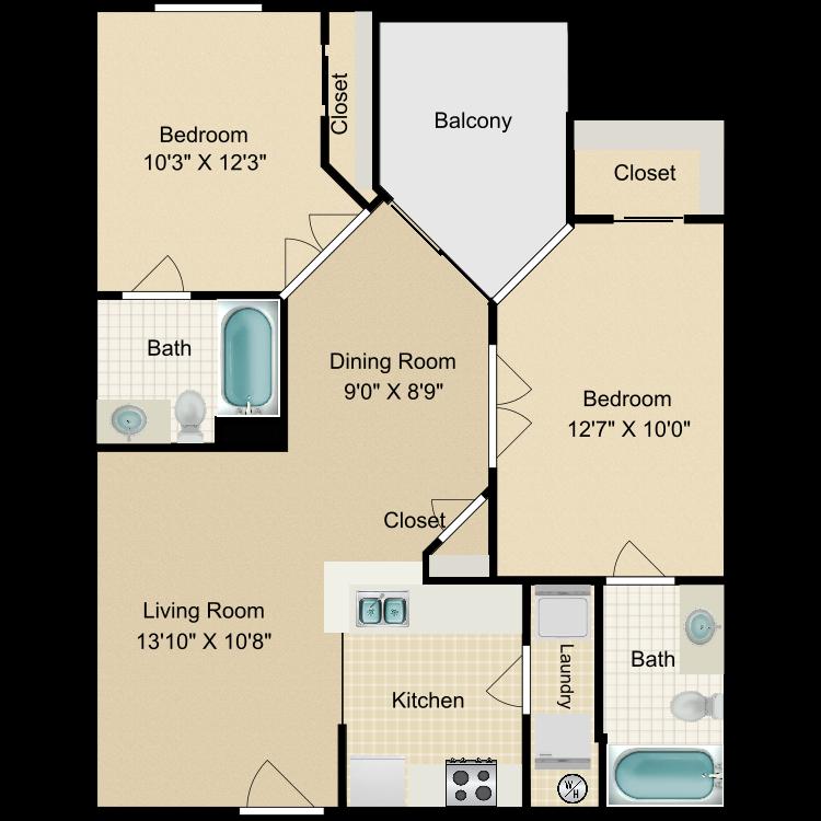 Floor plan image of Alvarado