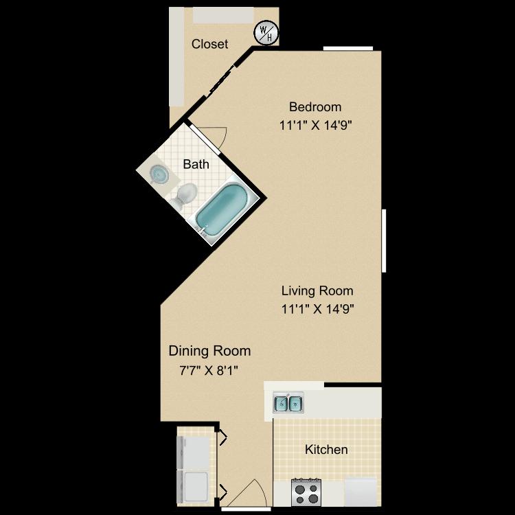Floor plan image of Encanto Studio