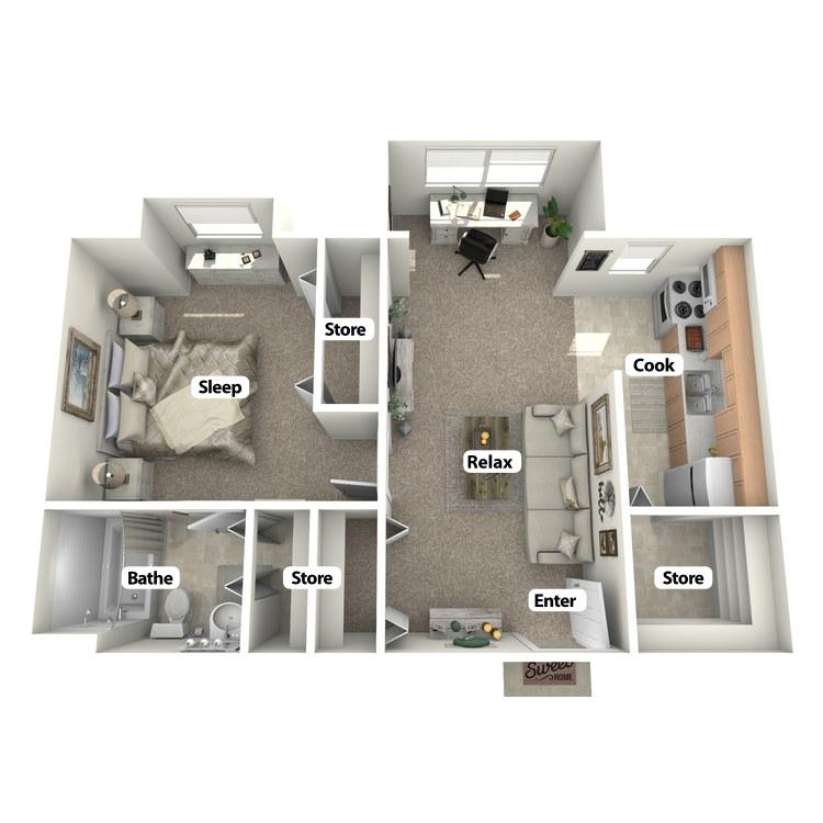 Floor plan image of Courtyard Room